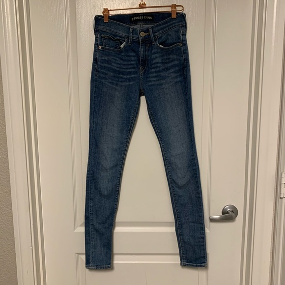 Express Skinny Legging Mid Rise Jeans Size 0